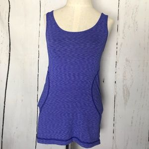 ZELLA purple stripey tank top